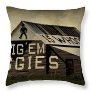 Aggie Barn 5 - Whoop Throw Pillow