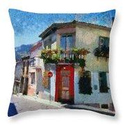 Agiassos Village Throw Pillow