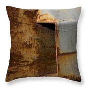 Aging With Rust Throw Pillow