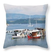 Agios Stefanos Throw Pillow