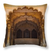 Agra Fort Arches Throw Pillow