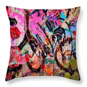 Agression And All  Throw Pillow