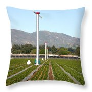 Agricultural Windmills Throw Pillow