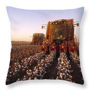 Agriculture - Cotton Harvesting  San Throw Pillow
