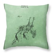 Agriculture Plow Patent Throw Pillow