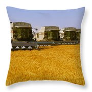 Agriculture - Six Gleaner Combines Throw Pillow