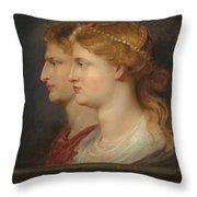 Agrippina And Germanicus Throw Pillow
