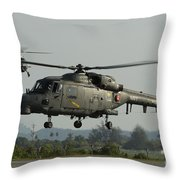 Agustawestland Lynx Helicopters Throw Pillow