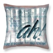ah Music Throw Pillow by Judy Dodds