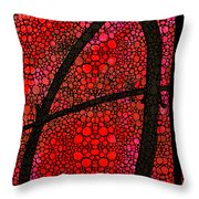 Ah - Red Stone Rock'd Art By Sharon Cummings Throw Pillow