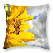 Ah Sunflower Throw Pillow