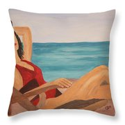 Ah The Smell Of The Sea Throw Pillow