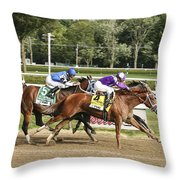 Ahead By A Nose Throw Pillow