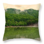 Ahead Of The Falls Throw Pillow