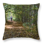 Ahead Of The Pack Throw Pillow