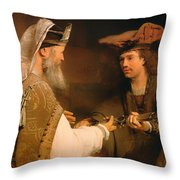 Ahimelech Giving The Sword Of Goliath To David Throw Pillow
