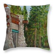 Ahwahnee Woods Throw Pillow