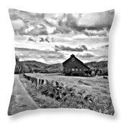 Ah...west Virginia Oil Bw Throw Pillow