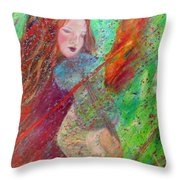 Aiden The Girl On Fire Throw Pillow by The Art With A Heart By Charlotte Phillips