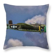 Air Apaches B-25j Throw Pillow