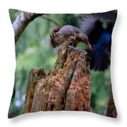 Air Attack On Bud Throw Pillow