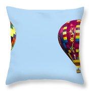 Air Balloons  0208 Throw Pillow