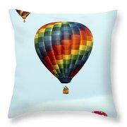 Air Balloons  0251 Throw Pillow