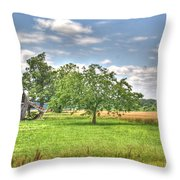 Air Conditioned Barn Throw Pillow