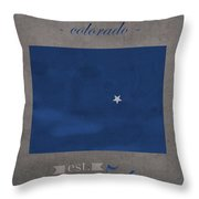 Air Force Falcons Colorado Springs Colorado College Town State Map Poster Series No 006 Throw Pillow