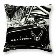 Air Force Motorcycle Throw Pillow