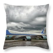 Air Force One Throw Pillow