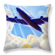 Air France Throw Pillow