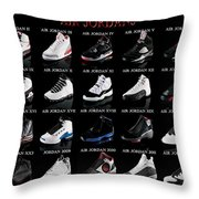 Air Jordan Shoe Gallery Throw Pillow