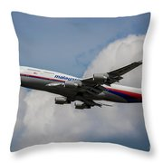 Air Malaysia Boeing 747 Throw Pillow