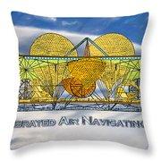 Air Navigating Machine Throw Pillow