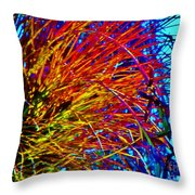 Air Plant On Fire Throw Pillow