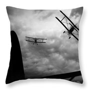 Air Pursuit Throw Pillow by Bob Orsillo