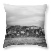 Air Stream Cannibalized Throw Pillow