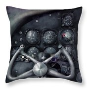 Air - The Cockpit Throw Pillow by Mike Savad