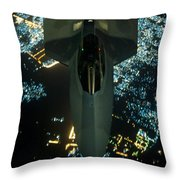 Air To Air Refueling At Night Throw Pillow