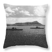 Aircraft Carriers In Hawaii Throw Pillow