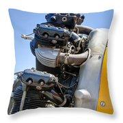 Aircraft Engine 3 Throw Pillow