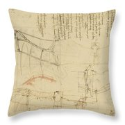 Aircraft Machine Has Been Reduced To Simplest Shape Wings Directly Put On Human Body By Straps  Throw Pillow