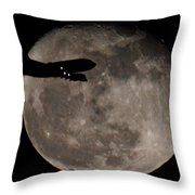 Aircraft Silhouette Throw Pillow