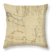 Aircraft The Machine Has Been Reduced To The Simplest Shape Throw Pillow