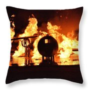 Airforce Fire Deparment Training Throw Pillow