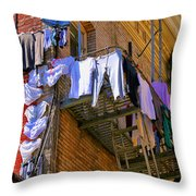 Airing Out The Drawers By Diana Sainz Throw Pillow