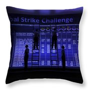 Airmen Post The Scores During Global Throw Pillow