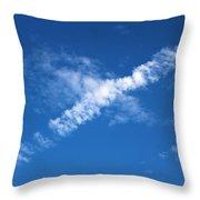 Airplane Cloud Throw Pillow