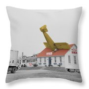 Airplane Diner Throw Pillow